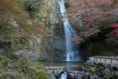 Cascade de Minoo en automne, Osaka, Japon Photographie stock libre de droits