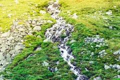 Cascade de montagne dans les roches Photographie stock