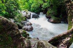 Cascade de Nangrong dans la province de Nakhon Nayok Photos libres de droits
