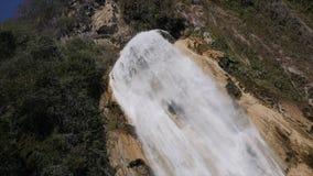 Cascade de Novia瀑布是最大Chiflon瀑布,墨西哥 股票录像