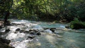 Cascade DE Novia de waterval is grootst van de Chiflon-watervallen, Mexico stock footage