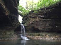 Cascade de parc d'état de Matthiessen Image libre de droits