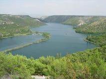 Cascade de parc national de lacs Plitvice Photographie stock libre de droits