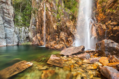 Cascade de Parida (Cachoeira DA Parida) - Serra da Canastra Photographie stock