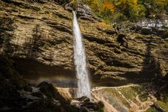 Cascade de Pericnik Image libre de droits