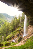 Cascade de Pericnik en parc national de Triglav, Julian Alps, Slovénie Images libres de droits