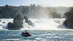 Cascade de Rhein Photo libre de droits