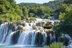 Cascade de rivière de Krka, parc national croate Image libre de droits