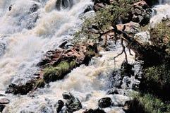 Cascade de Ruacana, Namibie Images libres de droits