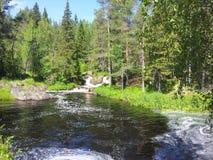 Cascade de Ruskeala Photos libres de droits