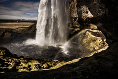 Cascade de Seljalandsfoss - Islande Photo stock