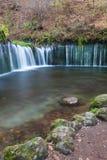 Cascade de Shiraito dans la saison d'automne photographie stock libre de droits