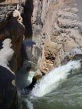 Cascade de Sipia en canyon de cotahuasi Photos stock