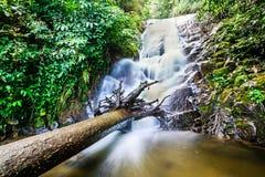 Cascade de Siribhume, parc de nation d'Inthanon, Chiang Mai, Thaïlande Images libres de droits