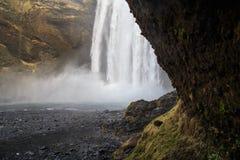 Cascade de Skógafoss en Islande du sud Image stock