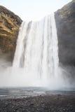 Cascade de Skógafoss en Islande du sud Photographie stock