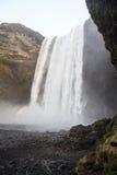 Cascade de Skógafoss en Islande du sud Images stock