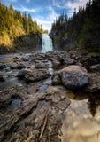Cascade de Storfossen en rivière boréale de Homla de forêt, OU norvégienne photo stock