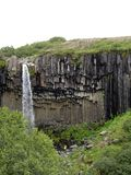 Cascade de Svartifoss, parc national de Skaftafell, Islande Photo libre de droits