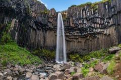 Cascade de Svartifoss, parc national de Skaftafell, Islande Photos libres de droits