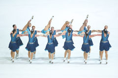 Cascade de Team Skating Graces Photo stock