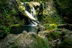 Cascade de Vaioaga, Roumanie image stock