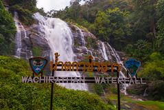 Cascade de Wachirathan, Tha?lande photo stock