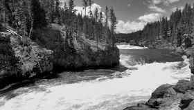 Cascade de Yellowstone Images stock