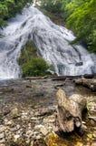 Cascade de Yutaki en parc national de Nikko, Japon Photos stock
