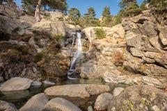 Cascade des Anglais waterfall near Vizzavona in Corsica Royalty Free Stock Photography