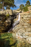 Cascade des Anglais waterfall near Vizzavona in Corsica Royalty Free Stock Photos
