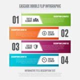 Cascade Double Flip. Vector illustration of cascade double flip infographic design element Stock Images