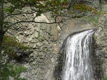 Cascade du Ray Pic (Ardeche) -瀑布 免版税图库摄影