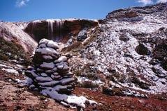 Cascade effrayée dans la chaîne de Gongga Photo stock