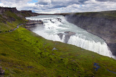 Cascade en cercle d'or de l'Islande Photos libres de droits