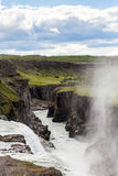 Cascade en cercle d'or de l'Islande Images libres de droits