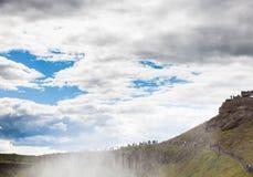 Cascade en cercle d'or de l'Islande Photographie stock