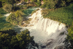 Cascade en Croatie Photo stock