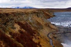 Cascade en Islande Photographie stock