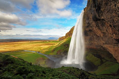 Cascade en Islande - Seljalandsfoss Photographie stock libre de droits