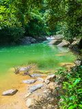 Cascade en parc national de Khao Sok Photographie stock