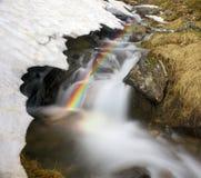 Cascade en Ukraine - sur la rivière de Prut photographie stock