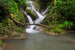 Cascade of Erawan waterfall, Thailand Stock Images