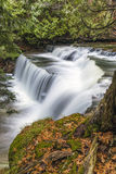 Cascade in Fall. Beautiful and well hidden Cannings Falls in fall Royalty Free Stock Images
