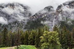 Cascade falls in Banff Stock Image
