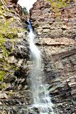 Cascade Falls Ouray, CO. A beautiful Colorado waterfall visible from anywhere within Ouray Stock Image