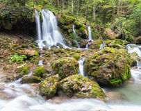 Cascade. Falls over mossy rocks at Mixnitz in Styria, Austria Stock Photo