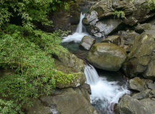 Cascade falls with rocks Stock Images