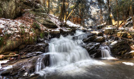 Cascade. A cascade flows deep in the forest Royalty Free Stock Photos
