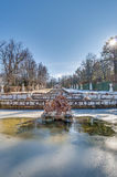 Cascade fountain at La Granja Palace, Spain Royalty Free Stock Photography